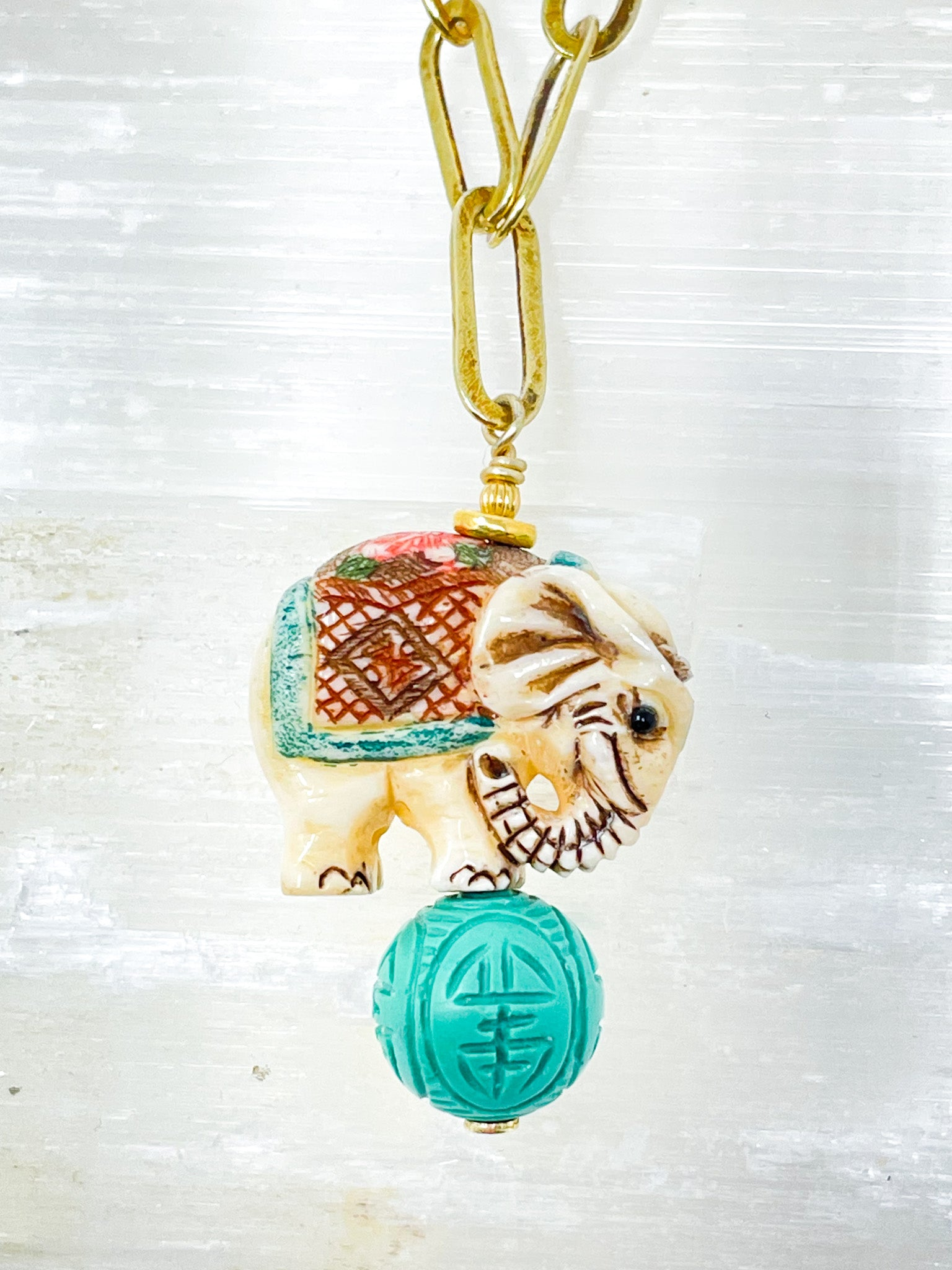 Circus Elephant Necklace