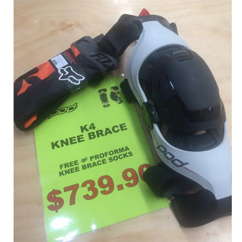 FREE FOX SOCKS WITH POD K4 KNEE BRACES