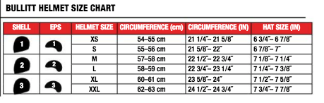 Bell - Bullit Chemical Candy Helmet Size Guide