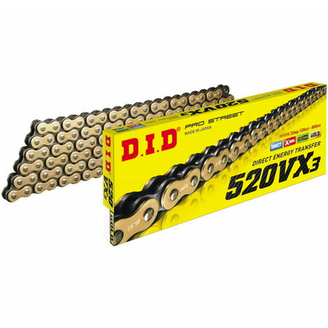 DID - 520 ZJ X-Ring 3 Pro-Gold Chain