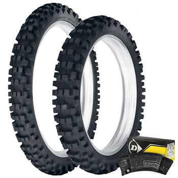 Dunlop - 952 Enduro Front & Rear Tyre & Tube Kit - 110/90-19