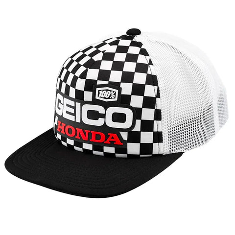 100% - Geico Honda Podium Indy Trucker Hat