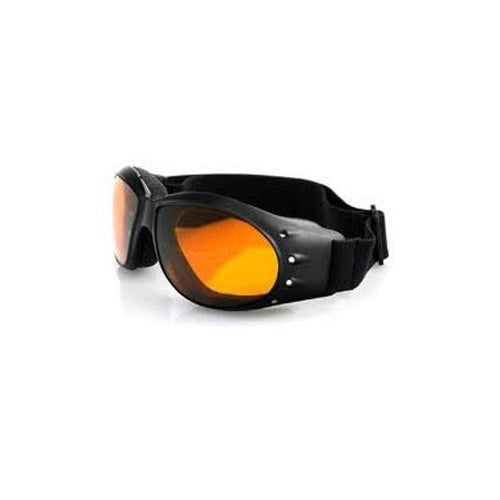 NEW BOBSTER CRUISER GOGGLES AMBER LENS DUAL VENTALATION SEALED FIT MOTORCYCLE