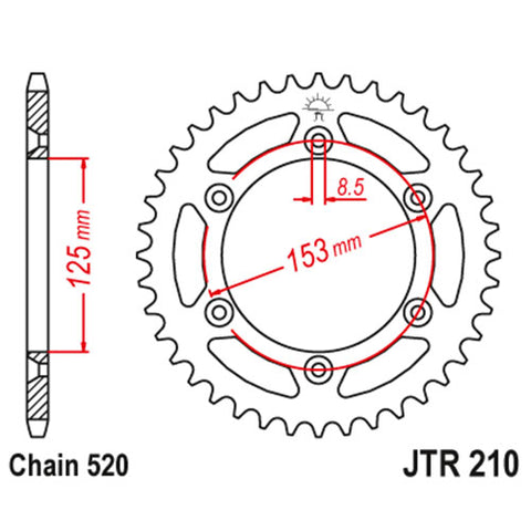 JT - Honda Steel Rear Sprocket