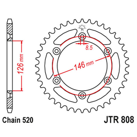 JT - Suzuki Steel Rear Sprocket
