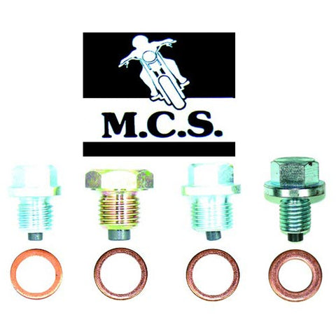 MCS - Magnetic Sump Plug And Crush Washer - 14mm x 1.25