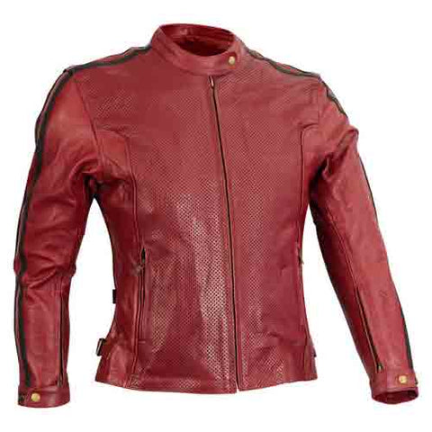Ricondi - Ladies Mt Nebo Perforated Leather Jacket