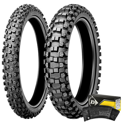 Dunlop - MX 52 Front & Rear Tyre and Tube Kit - 110/100-18