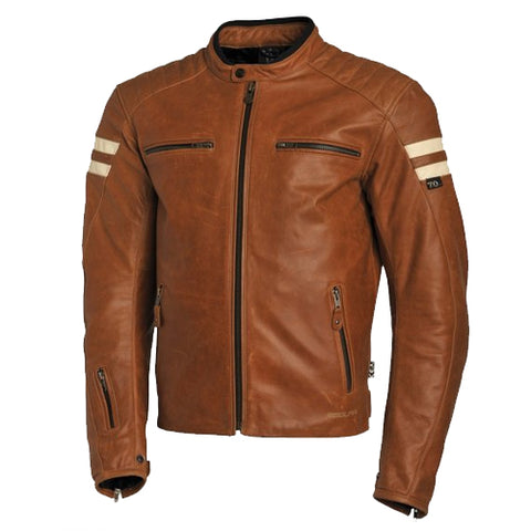 Segura - Retro Leather Jacket (4305932615757)
