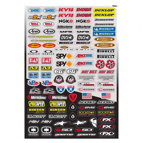 Factory Effex - Micro Sponsor Sticker Sheet