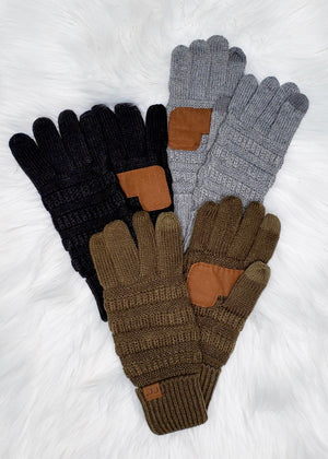 C.C Knit Smart Touch Gloves