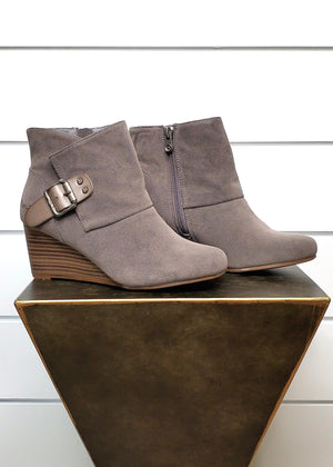 Blowfish Buckle Wedge Booties