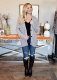 Gray Side Button Cardigan