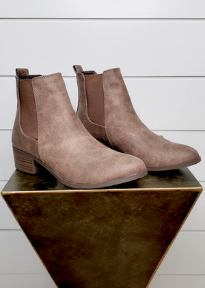 Clara Booties - Light Brown