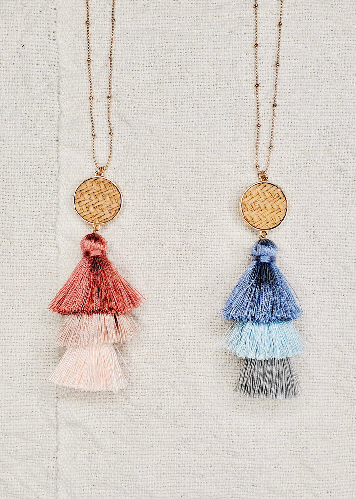 Tiered Fringe Long Necklaces