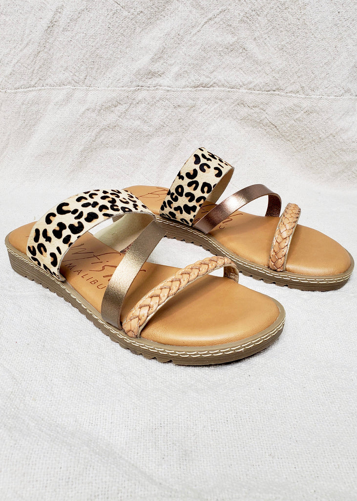 Blowfish Three Strap Sandal - Leopard