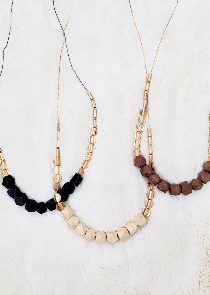 Wood Bead Long Necklaces