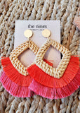 Rattan Fringe Earrings