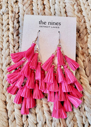 Raffia Fringe Earrings