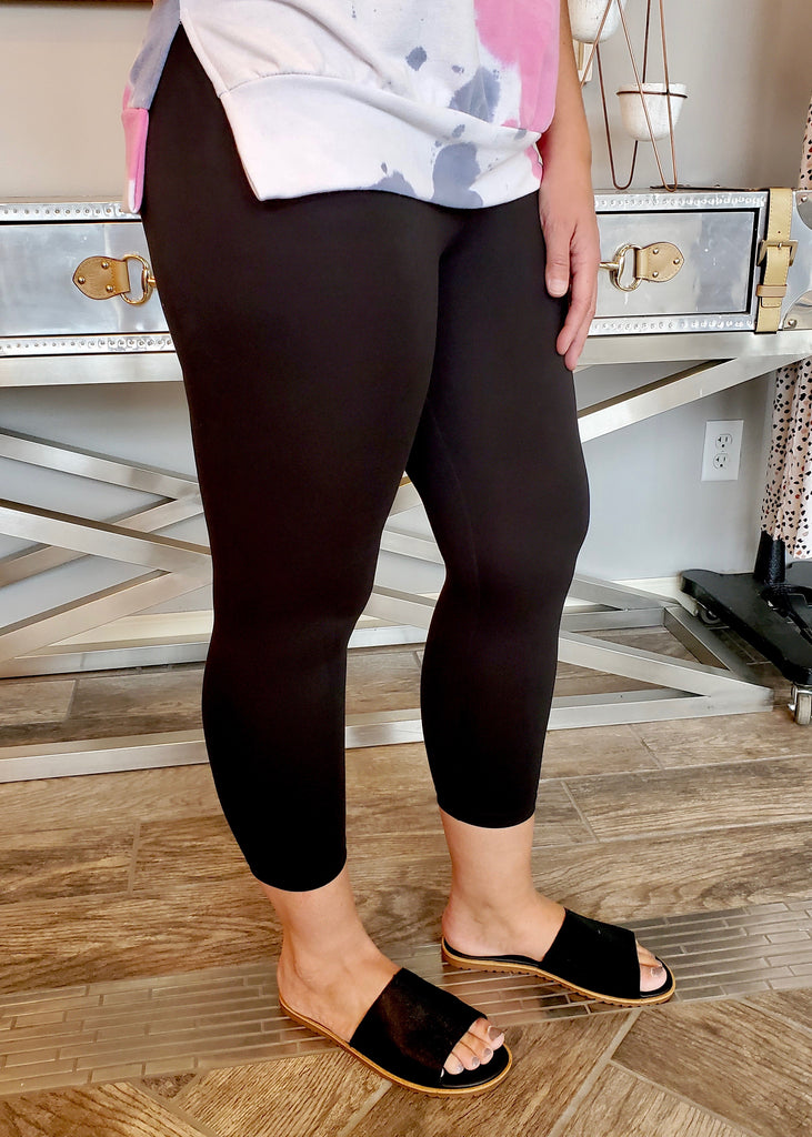 Butter Yoga Waist Cropped Leggings