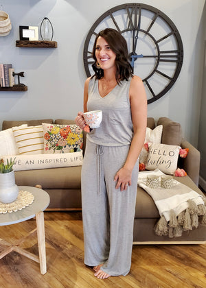 Gray Lounging Jumpsuit