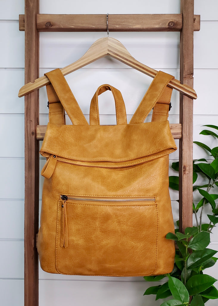 Vegan Leather Large Convertible Backpack Purses - 3 Colors!