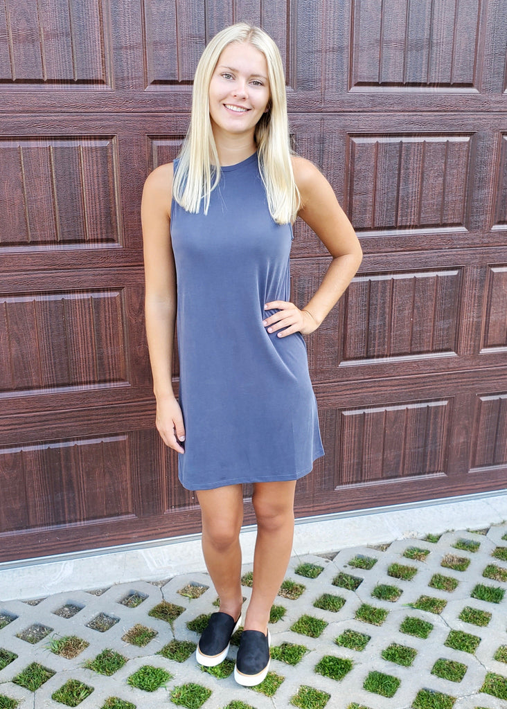 Soft Basic Tank Dresses
