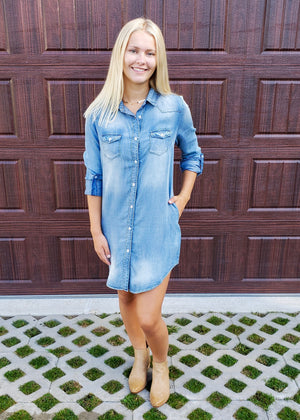 The Essential Denim Dress