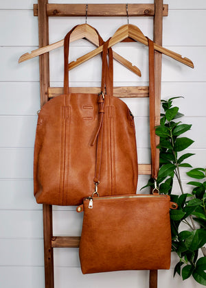Vegan Leather Bag-In-Bag Purses