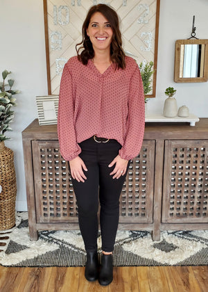 Mulberry Dotted Top