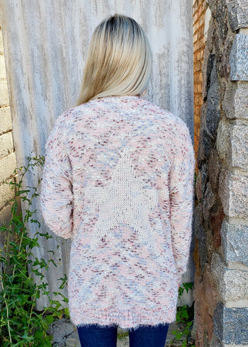 Colors of My Heart Star Cardigan