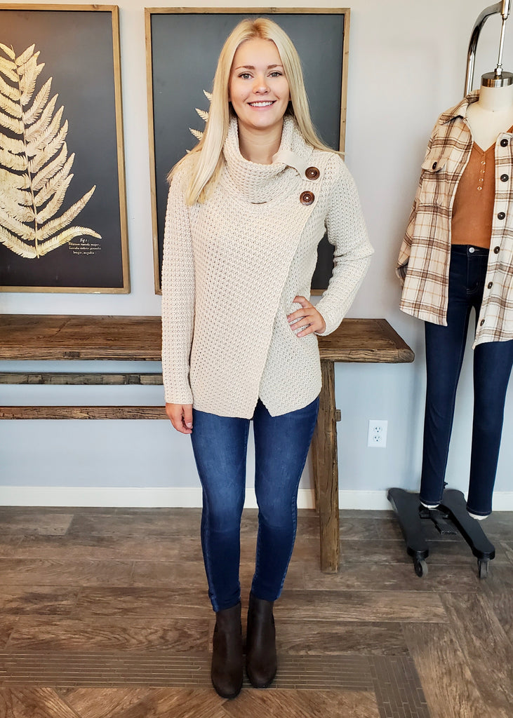 Keepin it Cozy Cowl Neck Sweaters - 4 Colors!