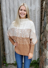 Ombre Mock Neck Sweaters - 2 Colors!