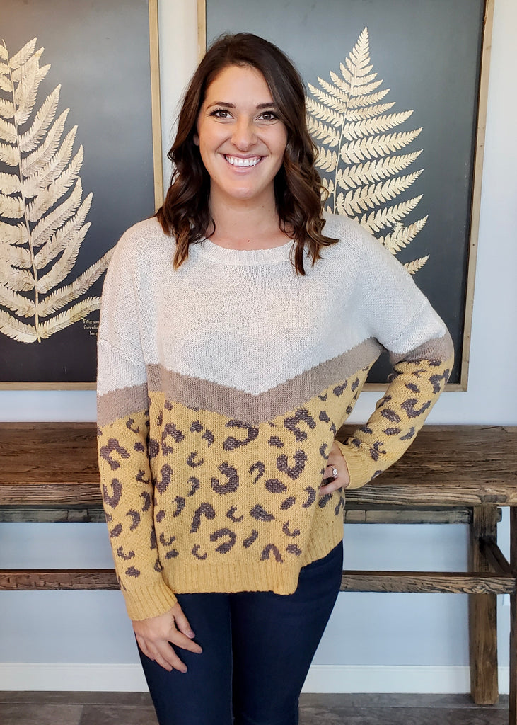Gold Into The Wild Oversized Sweater