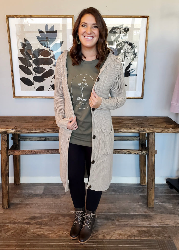 Button Down Hooded Cardigans - 4 Colors!
