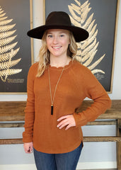Scalloped Neck Pullovers - Available in 2 colors!
