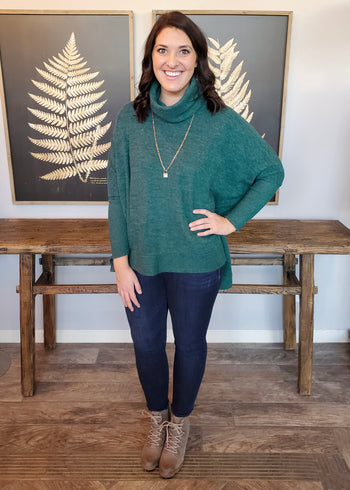 Hunter Green Downtown Pullover