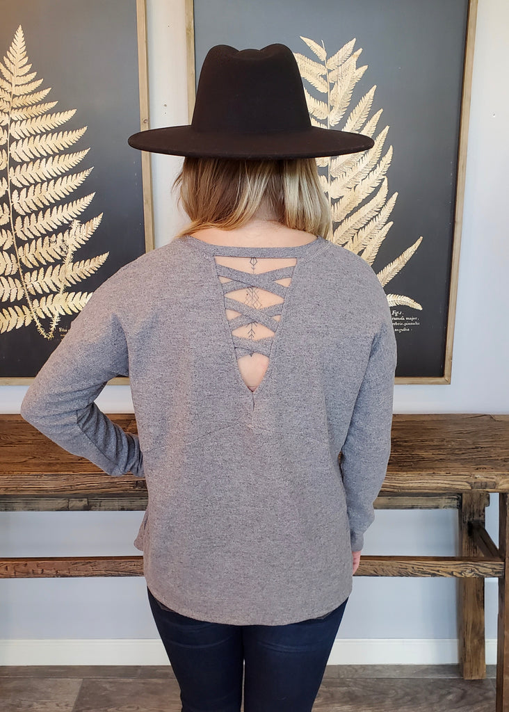 Criss Cross Back V-Neck Tops - 2 Colors!