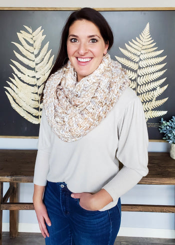 Neutrals Knit Infinity Scarf