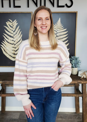 Spring Stripes Soft Pullover