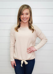 Ribbed Cinch Pullover - 2 Colors!