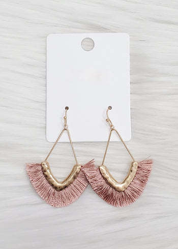 Teardrop Fringe Earrings - 4 Colors!