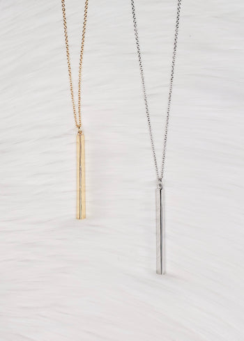 Bar Necklaces - 2 Colors!