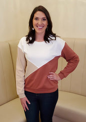 Ginger Colorblock Lightweight Sweatshirt