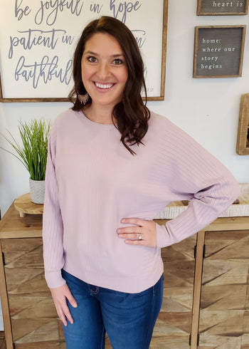 Light Lavender Dolman Top