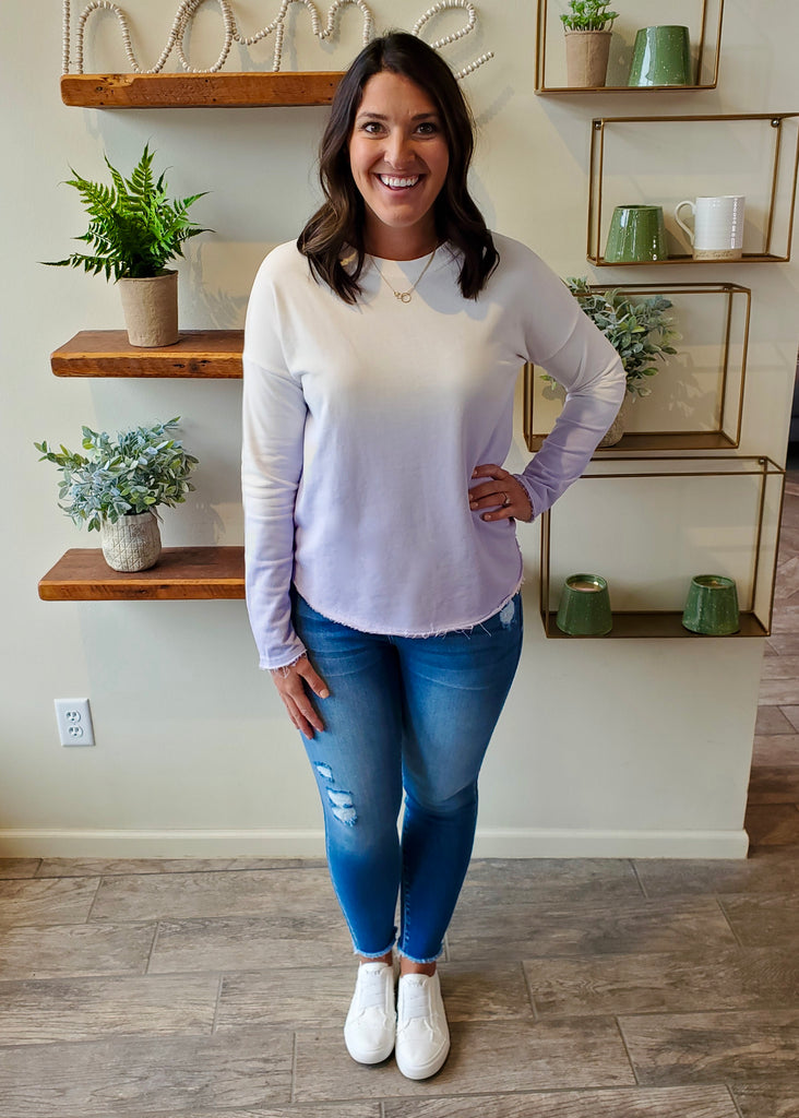 Light Lavender Ombre Top