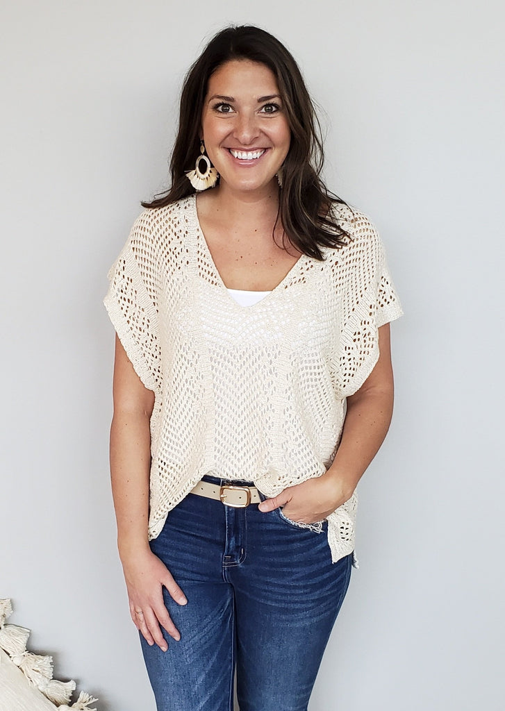 Hit The Beach Crochet Tops - 2 Colors!