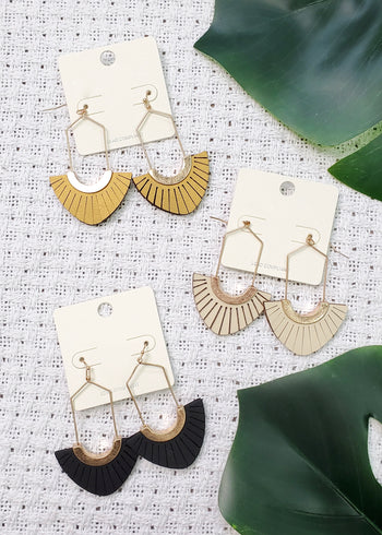 Summer Rays Drop Earrings - 3 Colors!