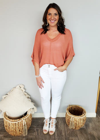 Oversized Dolman V-Neck Tops - 3 Colors!
