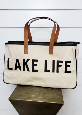 Lake Life Canvas Tote Bag